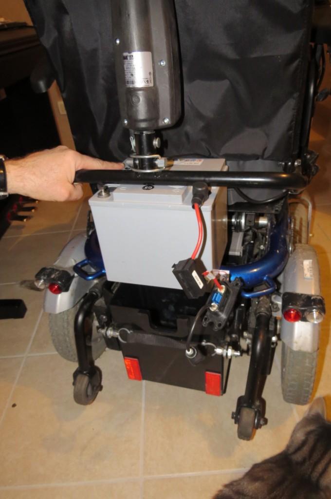Fauteuil roulant Bora - batterie