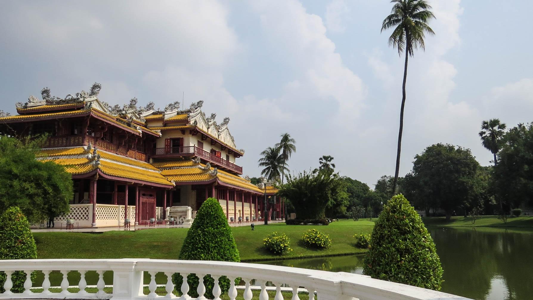 Palais Bang-Pa in fauteuil roulant Ayutthaya