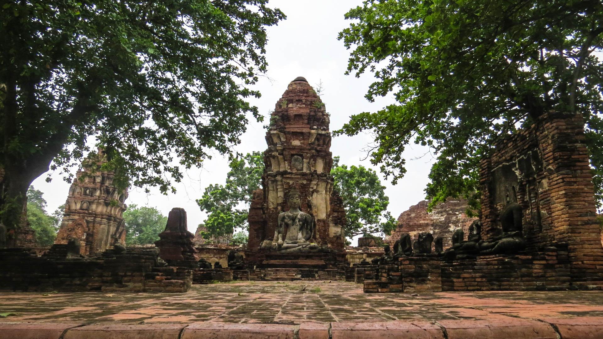Wat Mahathat fauteuil roulant Ayutthaya