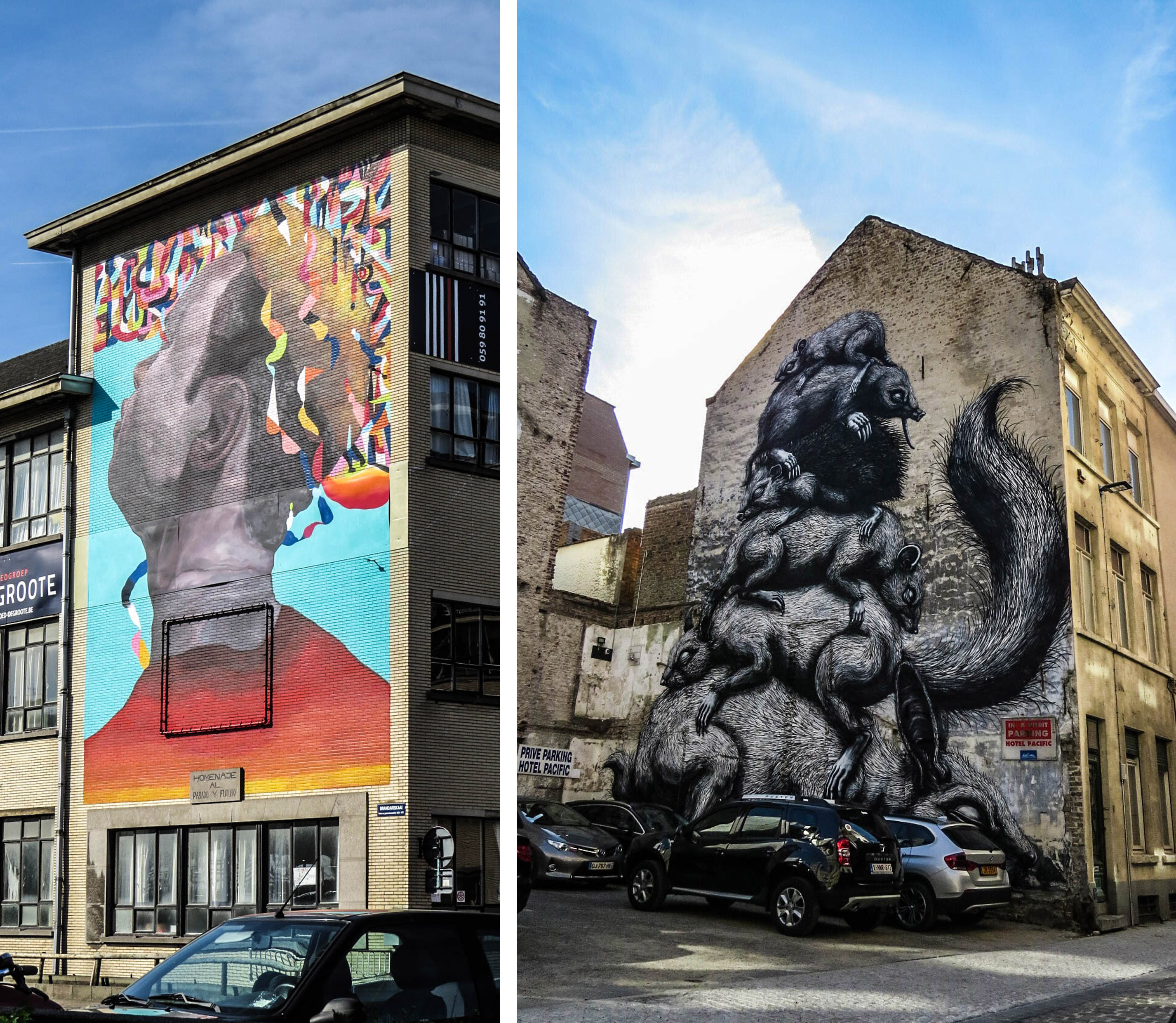 Les murales d'Ostende sont immenses.