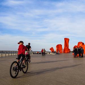 Le bord de mer d'Ostende.