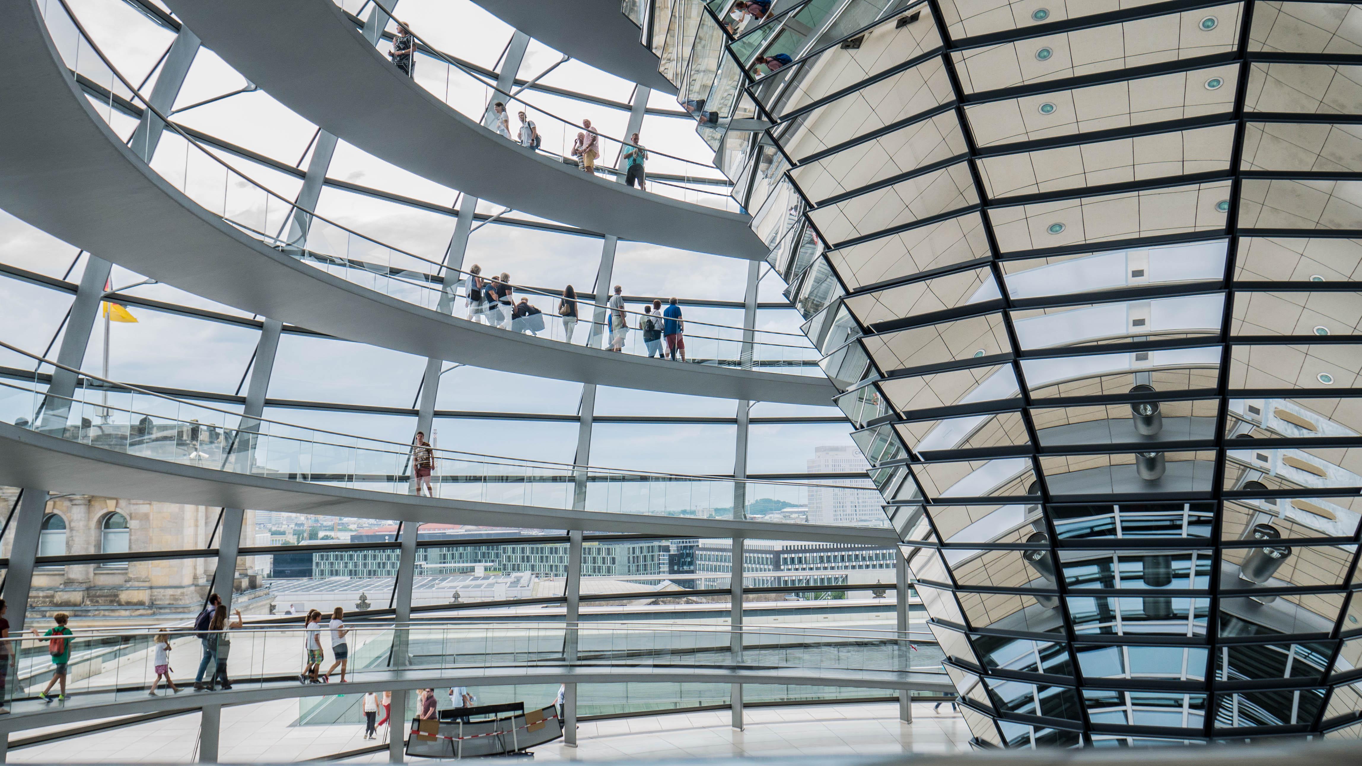 La coupole du Reichstag à Berlin.